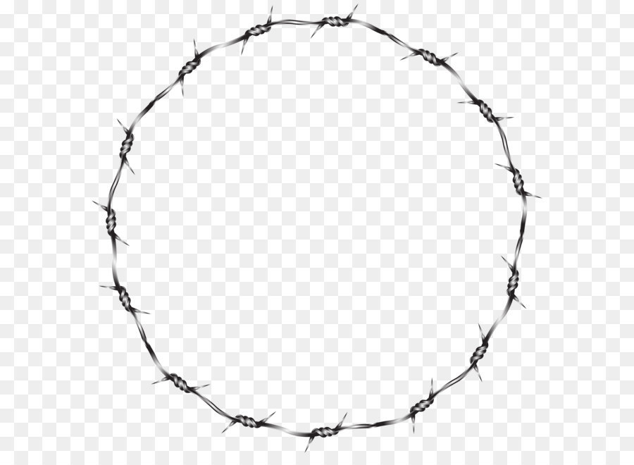 Barbed Wire Fence Clip Art Wire Round Border Transparent