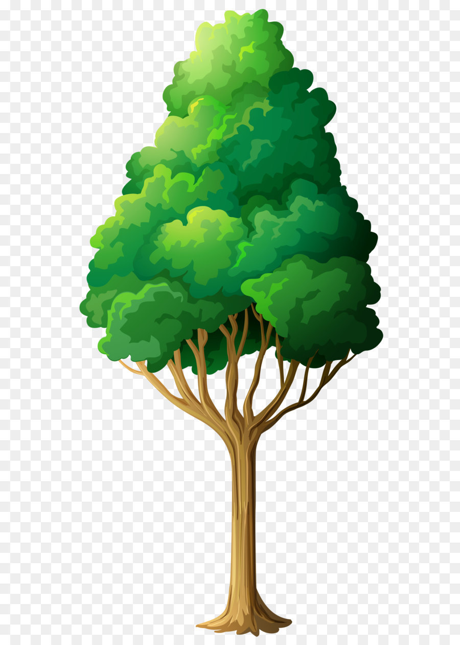 Clip Art Green Tree Png Clipart Png Download 2648 5072 Free