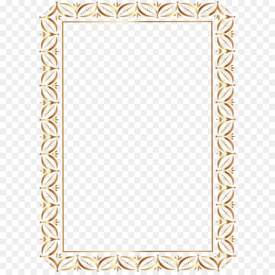 Gold Border Frame Transparent PNG Clip Art Image png download - 5814 ...