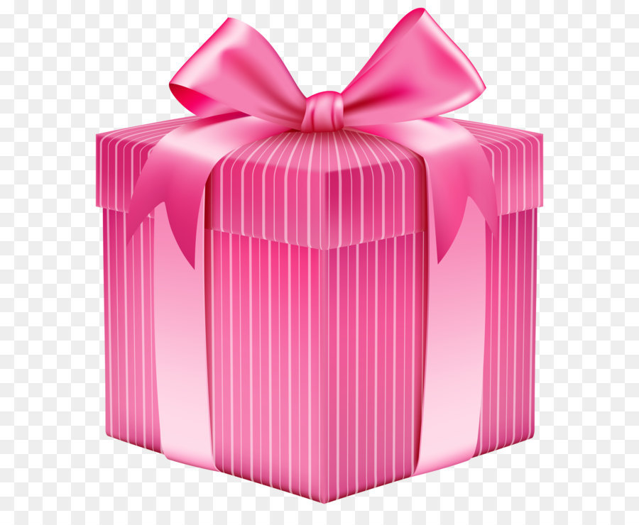 Christmas Gift Box Clip Art Pink Striped Png Clipart Picture 5508 6116 Transp Free Product