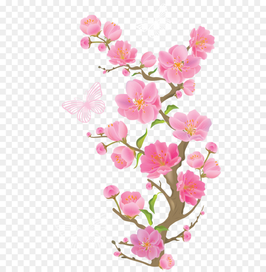 Pink flowers clip art spring branch with butterflies png clipart pink flowers clip art spring branch with butterflies png clipart picture mightylinksfo
