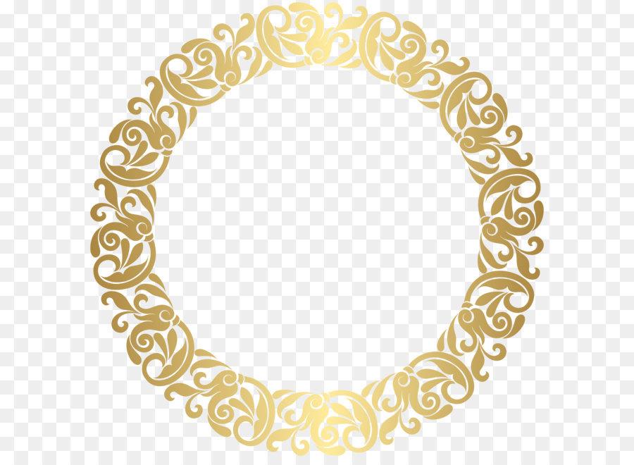 Gold Picture Frame Clip Art Gold Round Border Frame Png