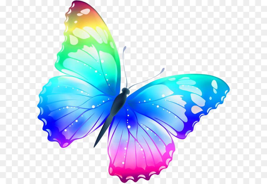 butterfly clip art large transparent multi color