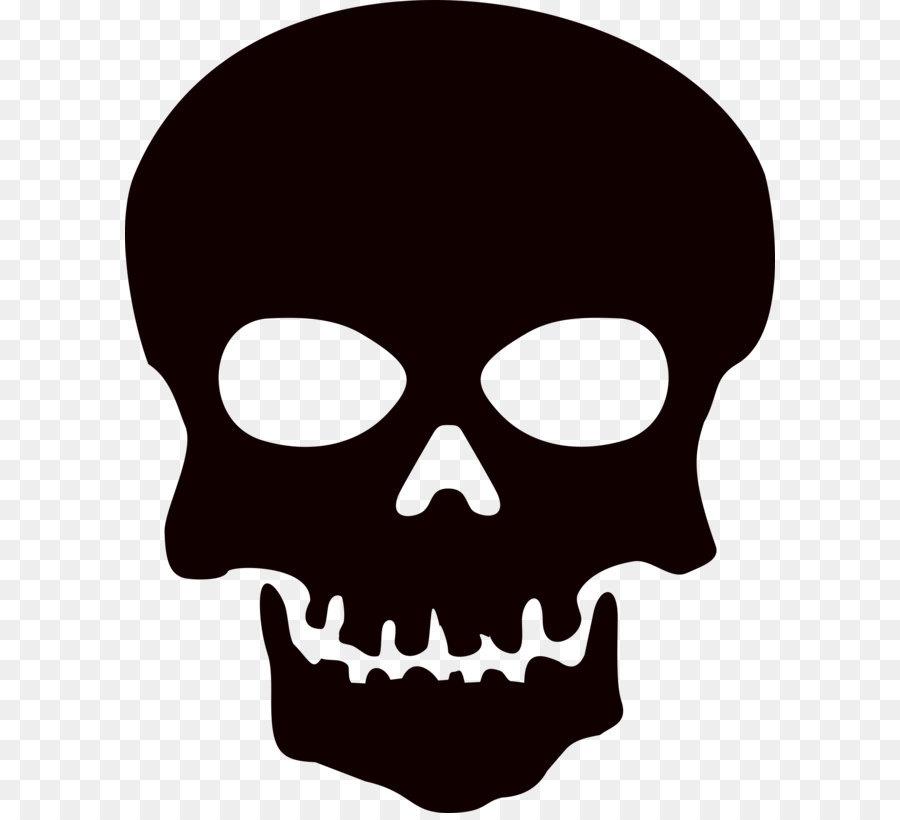Skull and crossbones Clip art - Skeleton Head Png Hd png download ...