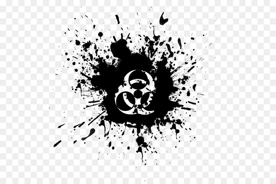 Ink Maliket El Ehsas Drawing Biohazard Symbol Png Png Download