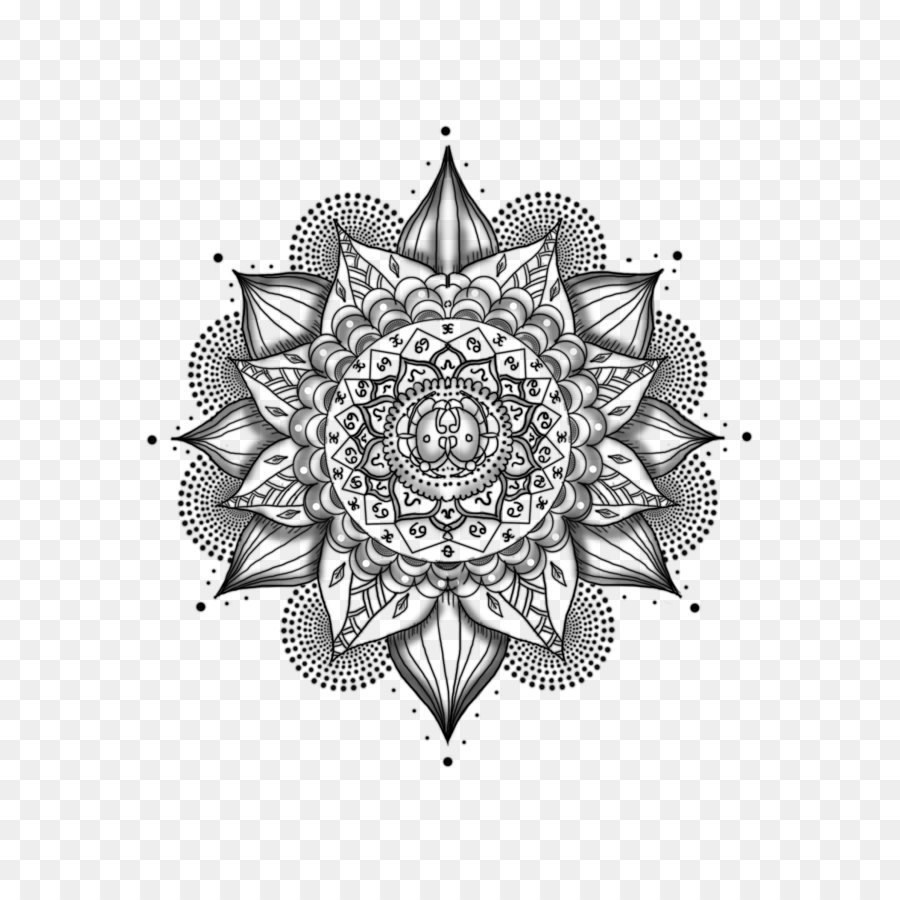 Mandala Tattoo Black And Gray Mehndi Mandala Tattoos Png Picture