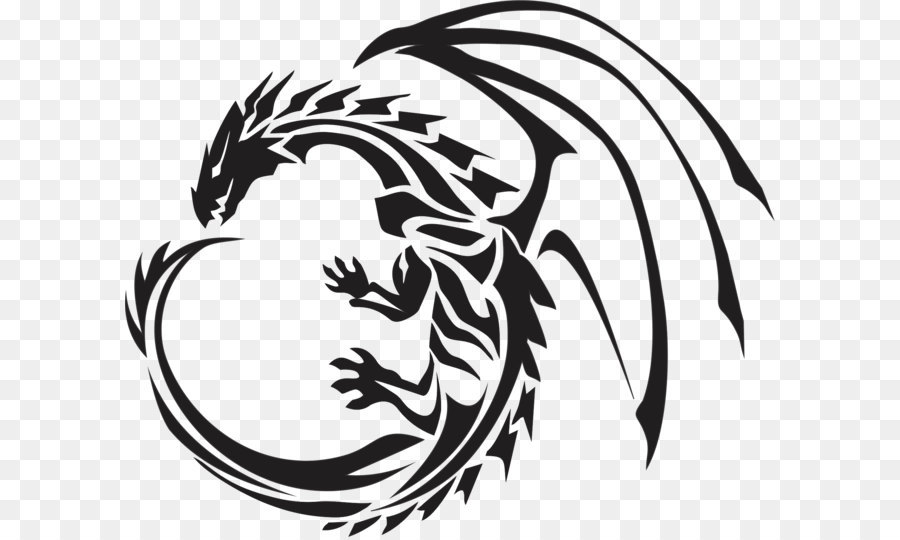 Dragon Clip Art Black Tattoo Dragon Png Images Png Download 1828