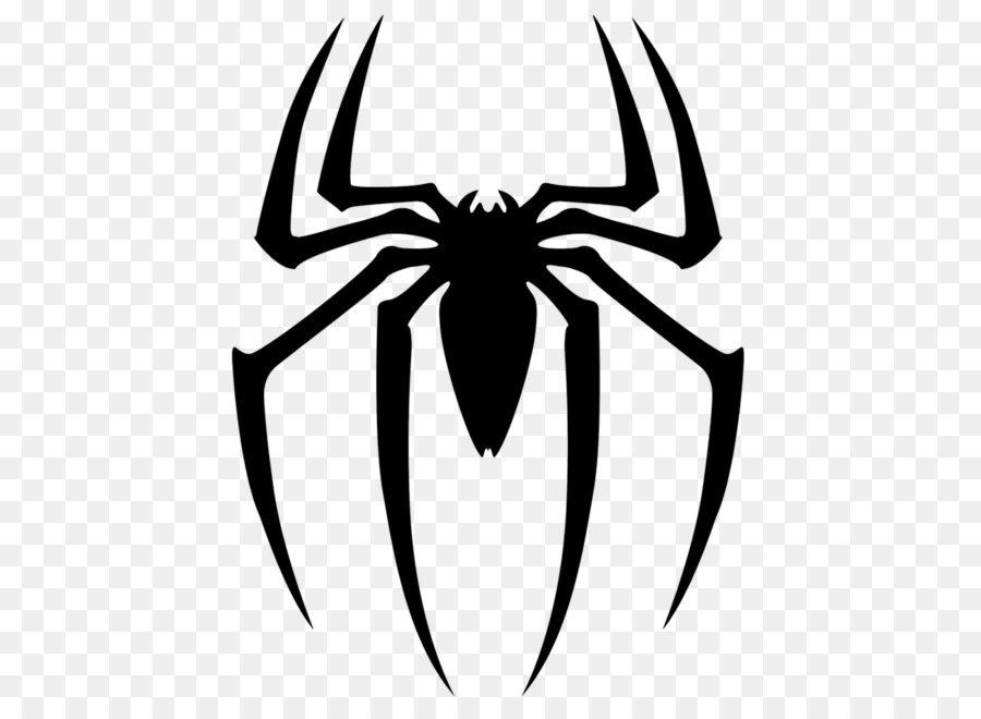 Spider Man Spider Web Logo Clip Art Black Spider Siluet Logo Png