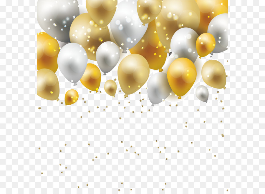 Material Yellow Pattern Dream Gold And Silver Balloon