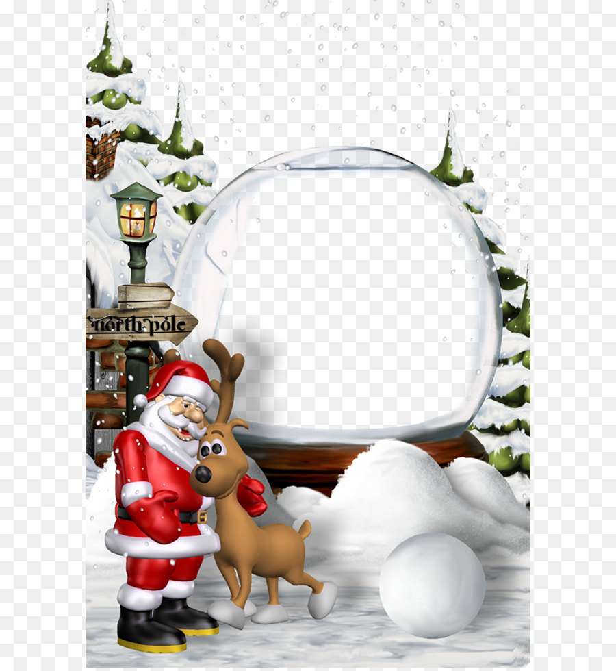 santa claus christmas eve new year christmas border background
