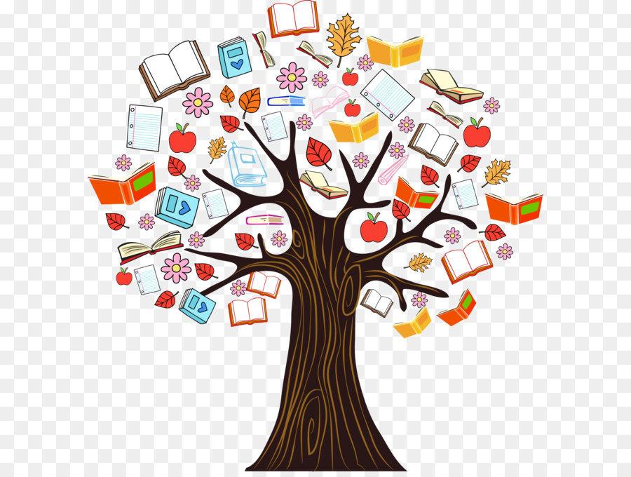 Book Tree Reading Clip Art