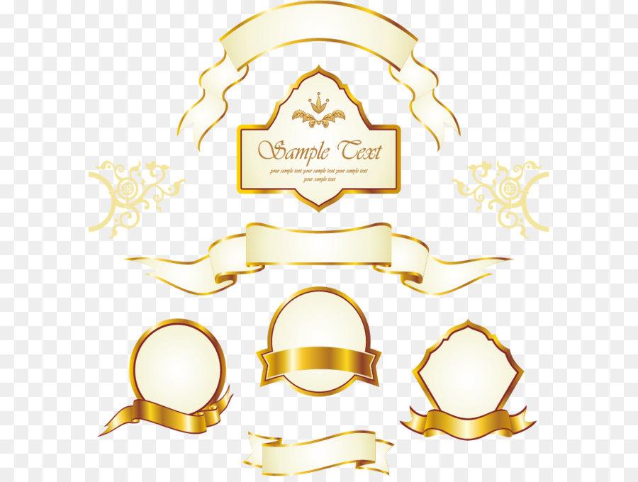 Gold Label Euclidean vector Royalty-free - Vintage gold frame label ...
