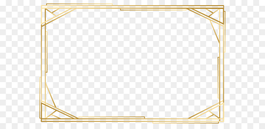 Angle Point Yellow Pattern - Vector gold frame png download - 1200 ...