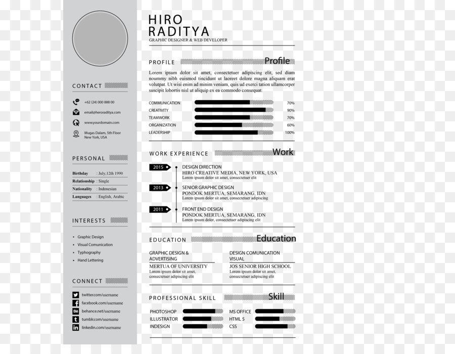Brand Font Light Gray Resume Template Png 33503508