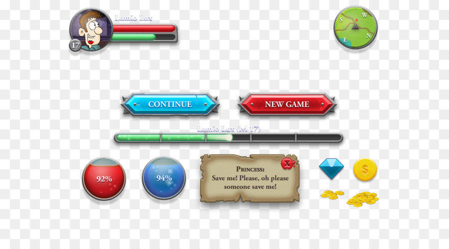Button Flat Design Game Graphical User Interface Game Buttons Png - Game design download
