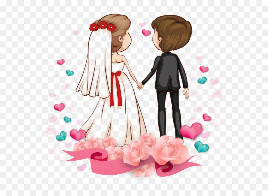 Love Romance couple Cartoon Marriage - Cartoon couple png ...