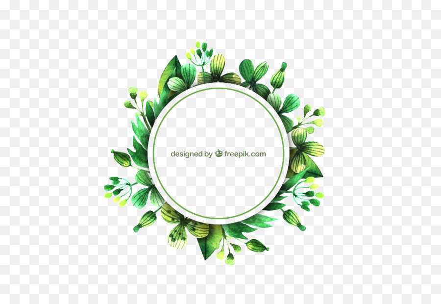 Leaf Euclidean Vector Watercolor Painting Free Green