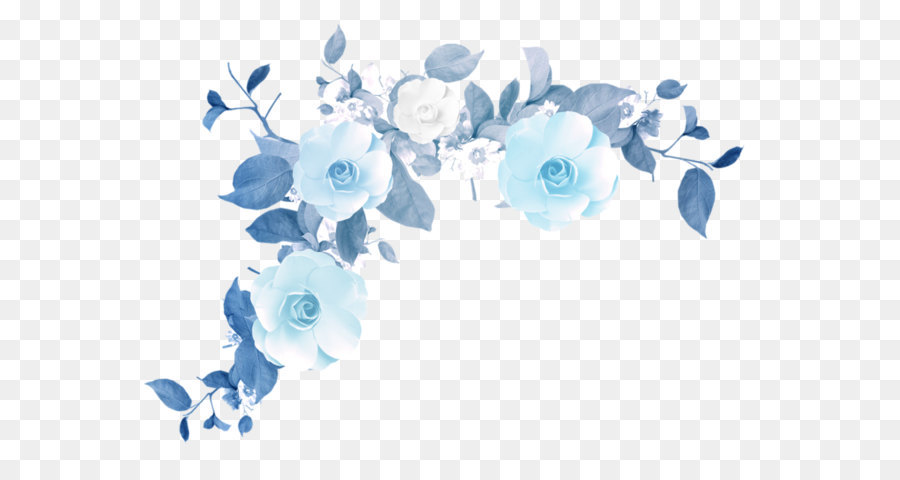 Transparent Background High Resolution Floral Border