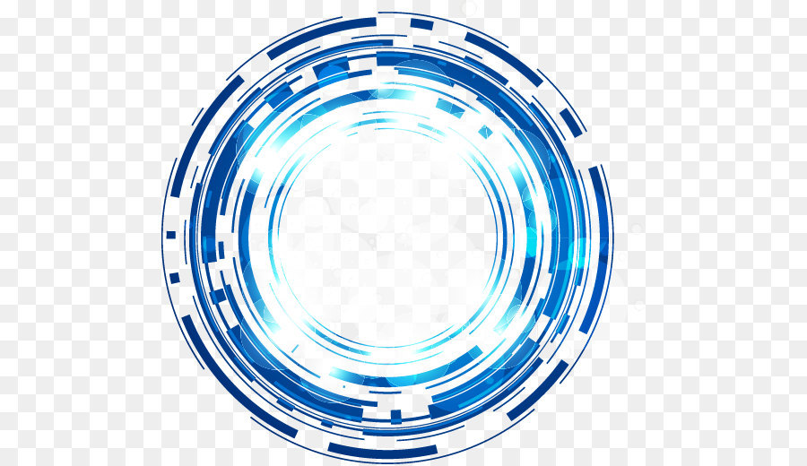 Science And Technology Abstract Blue Fantasy Glow Circle