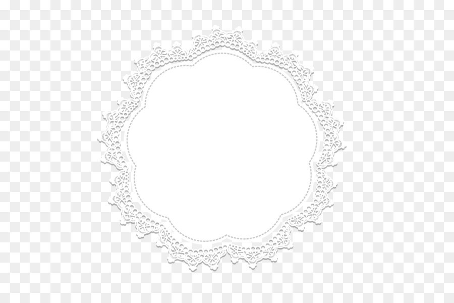 Circle Area Black And White Lace Border Png Download