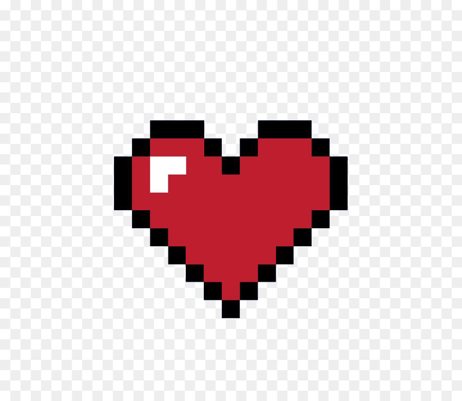 8bit heart 8bit color pixel pixel love png download