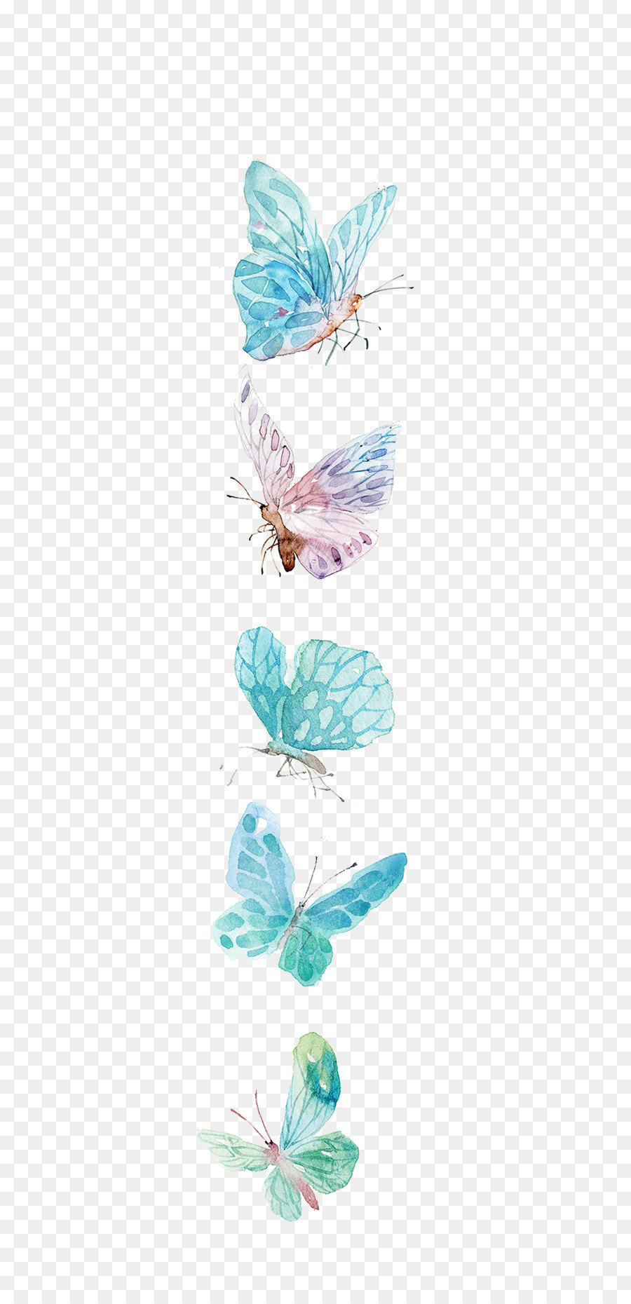 butterfly icon watercolor butterfly png download 608