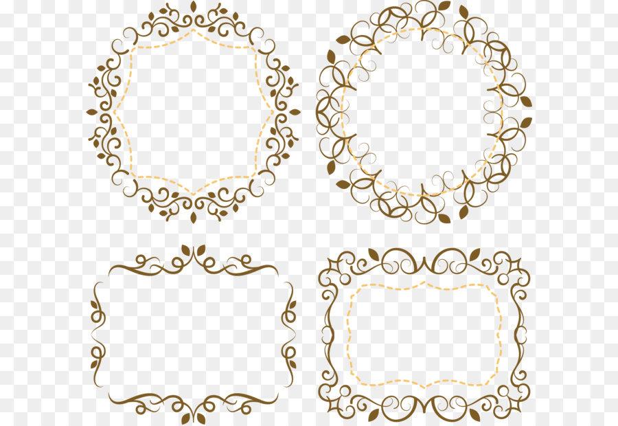 Wedding invitation Download Euclidean vector - Romantic lace wedding ...