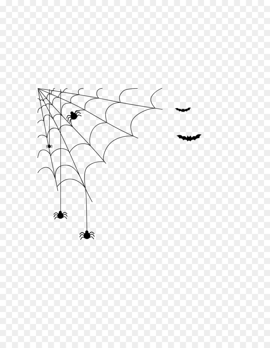 spider web black and white halloween - cobweb png download - 1080