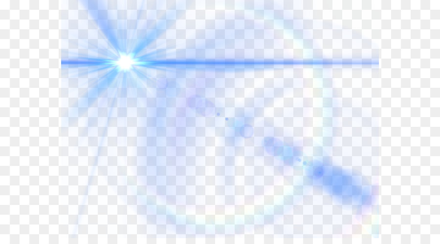 Light Triangle Sky Blue Blue Lens Glow Effect Png