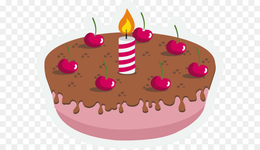 Birthday Cake Images Vektor ~ Birthday cake chocolate cake cherry cake torte cheesecake vector
