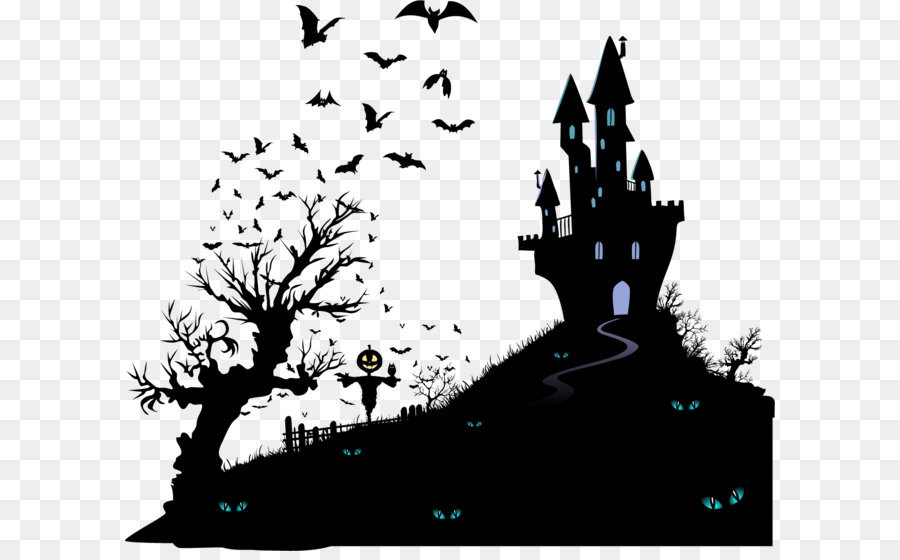 Housewarming party halloween wedding invitation moving party housewarming party halloween wedding invitation moving party vector black silhouette haunted house stopboris Gallery