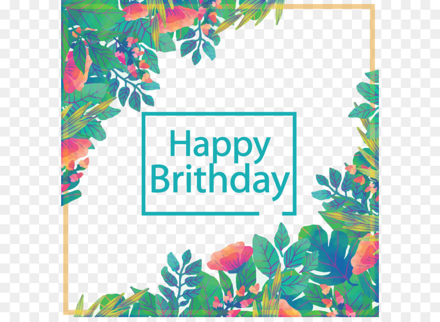 Birthday Greeting card Euclidean vector Gift Vector leaves