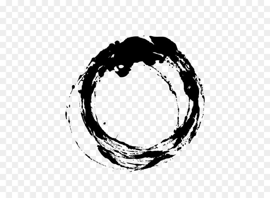 Ink Brush Circle Chinese Wind Black Irregular Circle Png Download