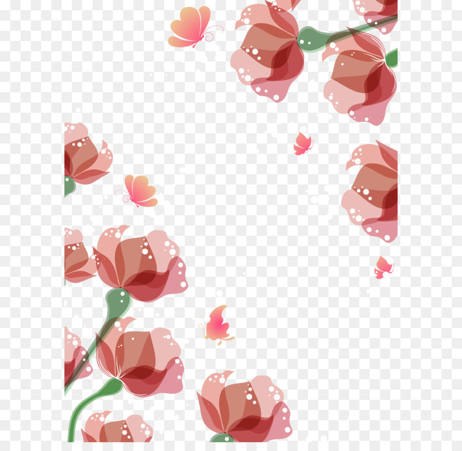 Flower Euclidean Vector Vector Hand Painted Watercolor