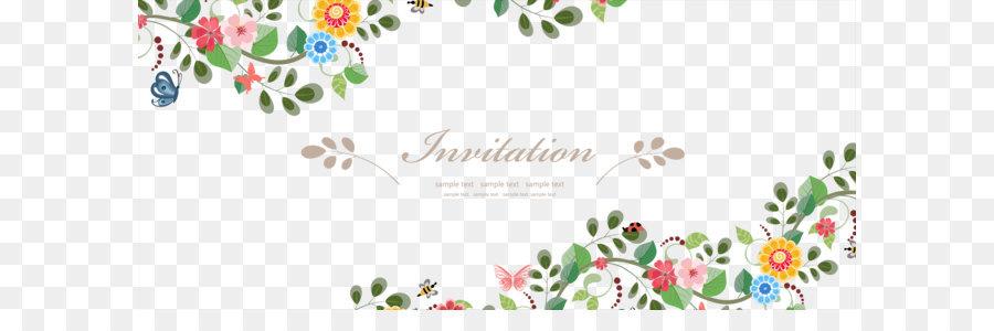 Wedding invitation flower euclidean vector vector fresh flowers wedding invitation flower euclidean vector vector fresh flowers border material stopboris Gallery