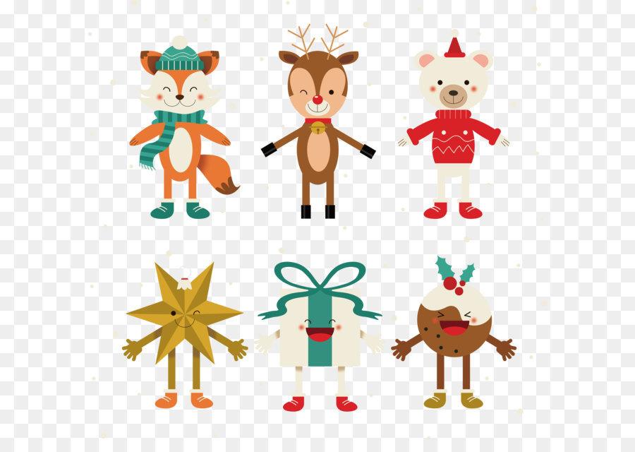 Comic Bilder Weihnachten.Reindeer Christmas Ornament Stern Von Bethlehem Comic Figuren Zu
