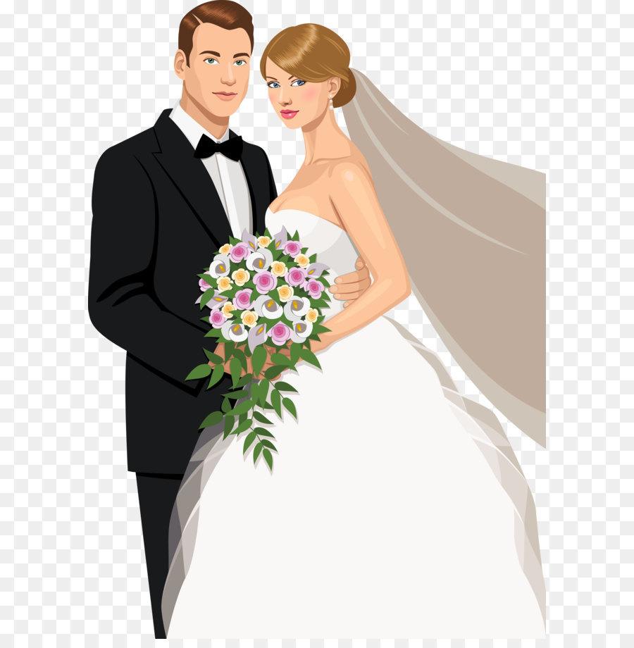 Wedding invitation Bridegroom Marriage - The bride and groom\'s ...