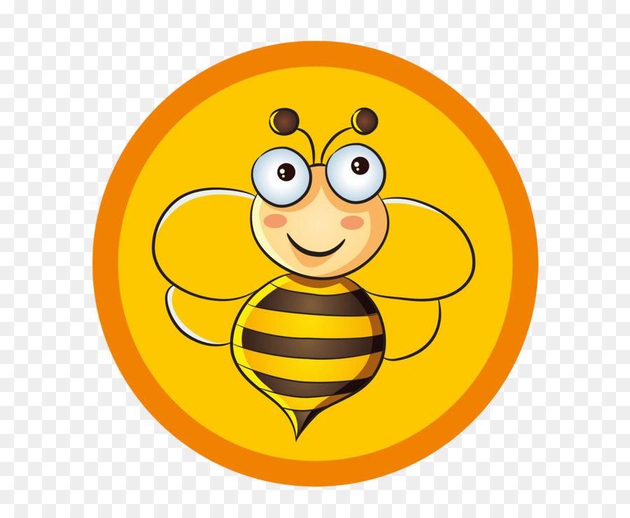 Apidae Madu Lebah Kartun Lebah Terbang Logo Unduh Emoticon Bola