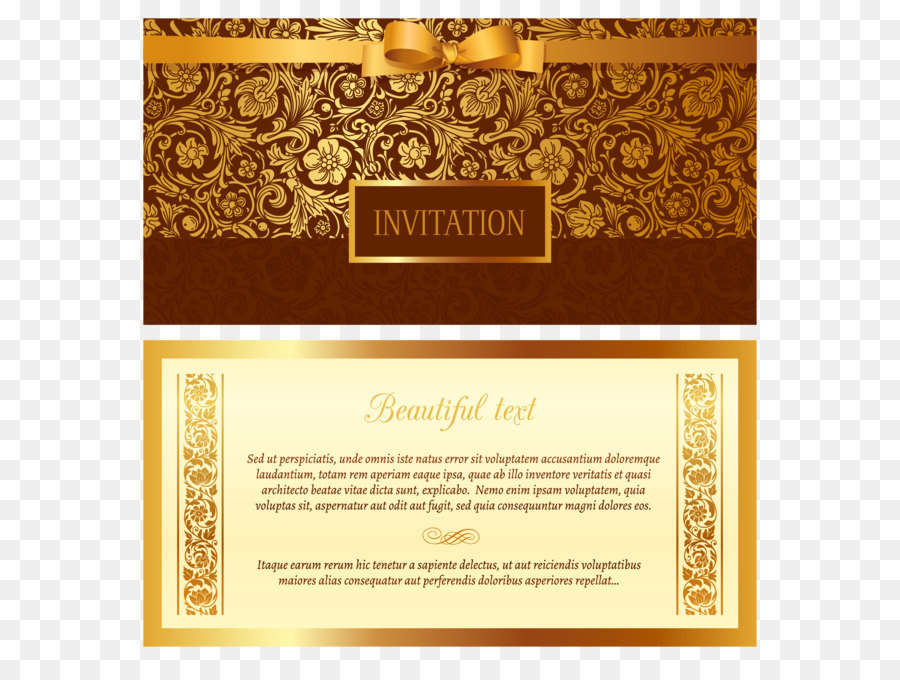 Wedding invitation euclidean vector ornament vector golden wedding invitation euclidean vector ornament vector golden invitation stopboris Image collections