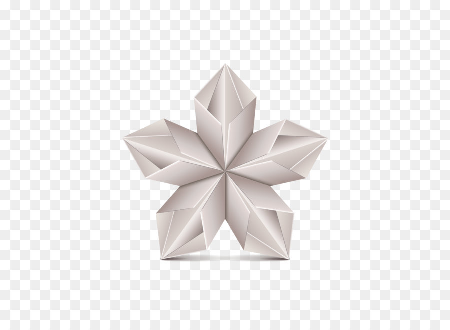 Origami Paper Euclidean Vector Flower Gray Origami Five Pointed