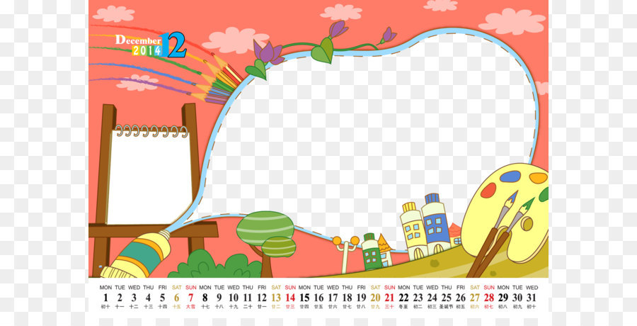 Painting Poster Drawing Board Childrens Cartoon Calendar Template