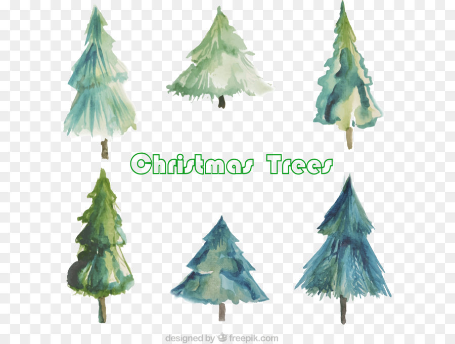 Christmas Tree Watercolor Painting 6 Watercolor Christmas Tree Png