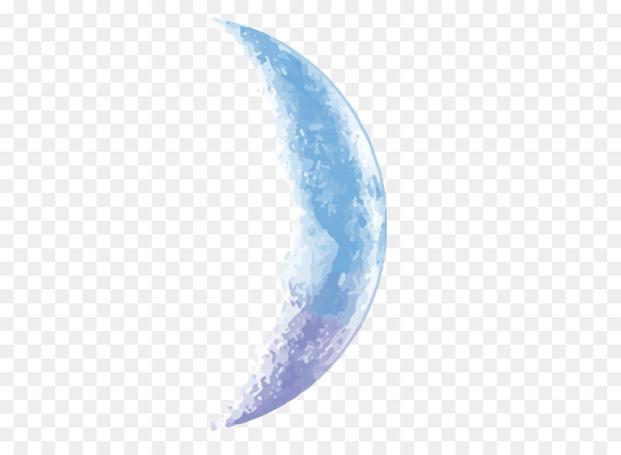 Moon Euclidean vector Vector sky blue half moon png