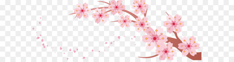 Cherry blossom Banner Template - Cherry branch png download - 1486 ...