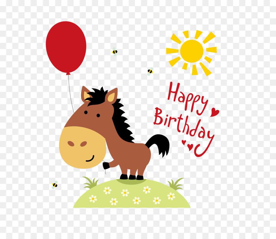Horse Birthday Greeting Card Wedding Invitation Clip Art Birthday