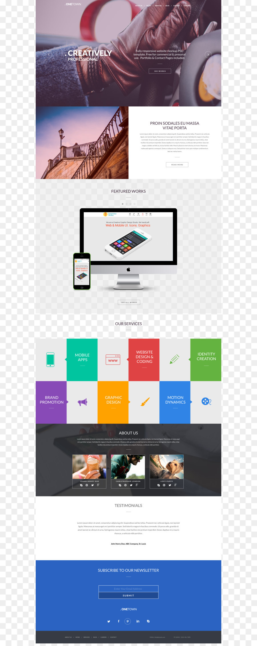 Responsive Web Design Web Page Web Template System Website - Complete website templates free download