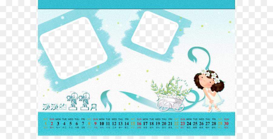 Cartoon Chinese zodiac Illustration - Children calendar template png