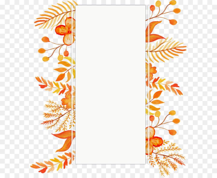 Naranja Euclidiana del vector de Color de la Flor - Acuarela de ...