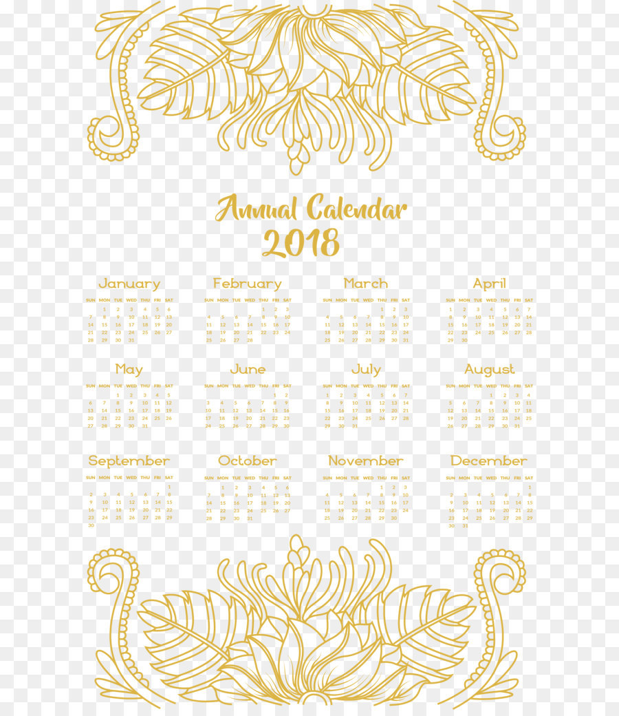 yellow calendar icon yellow flower vine decoration calendar