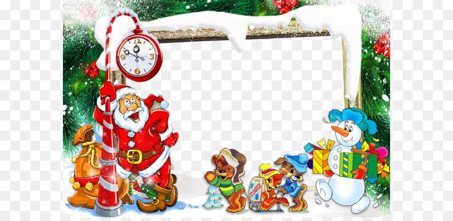 santa claus christmas new year photomontage christmas border